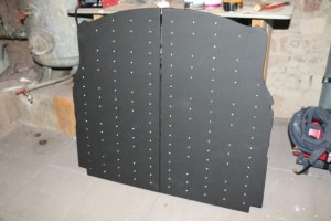 multiplex ladefläche mit kunstleder und polsternägeln