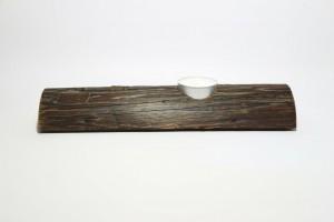 Kerzenhalter Holz Leiter Kerze Rückansicht