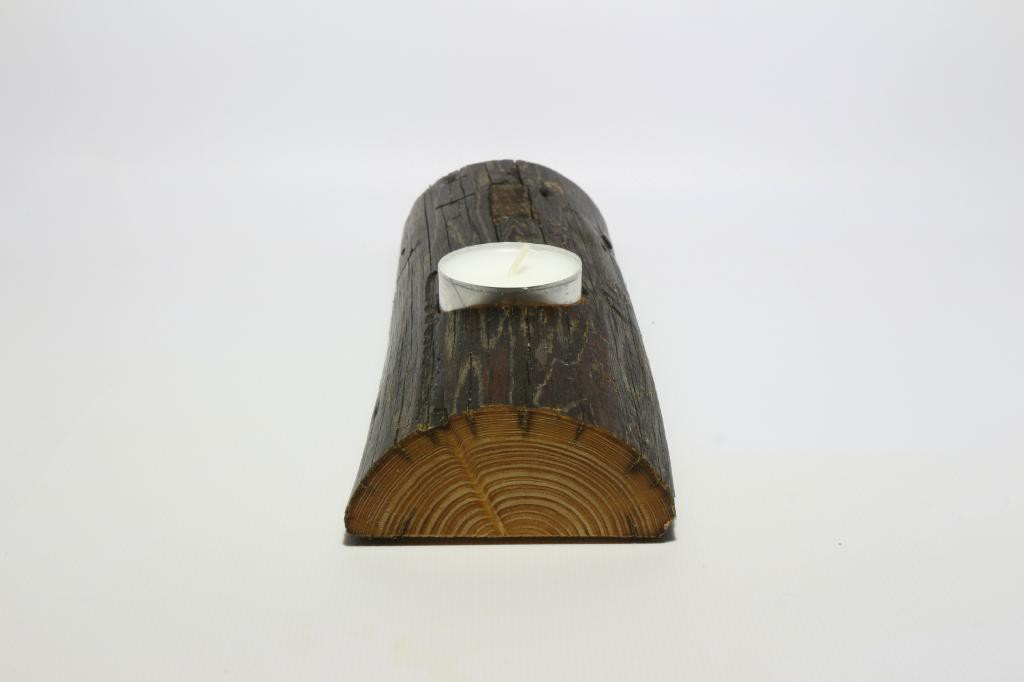 Kerzenhalter Holz Leiter Kerze Seitenansicht