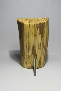 Kerzenhalter Holz Stahl Kerze Rückseite