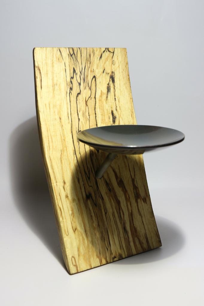 Kerzenhalter Holz Stahl Kerze Profil