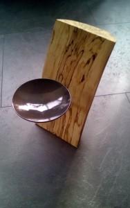 Kerzenhalter Holz Stahl Teelicht