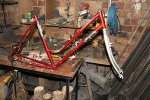 Fahrrad Rahmen umgebaut