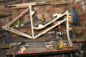 Fahrrad Rahmen sandgestrahlt