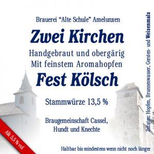 Amelunxen Fest Kölsch Bier Etikett